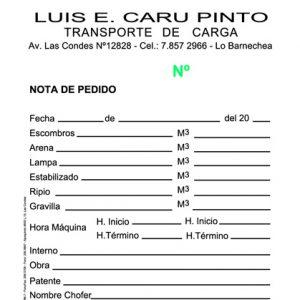 NOTA DE PEDIDO